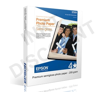 Epson Premium Semigloss Photo - 255 gram 10 cm